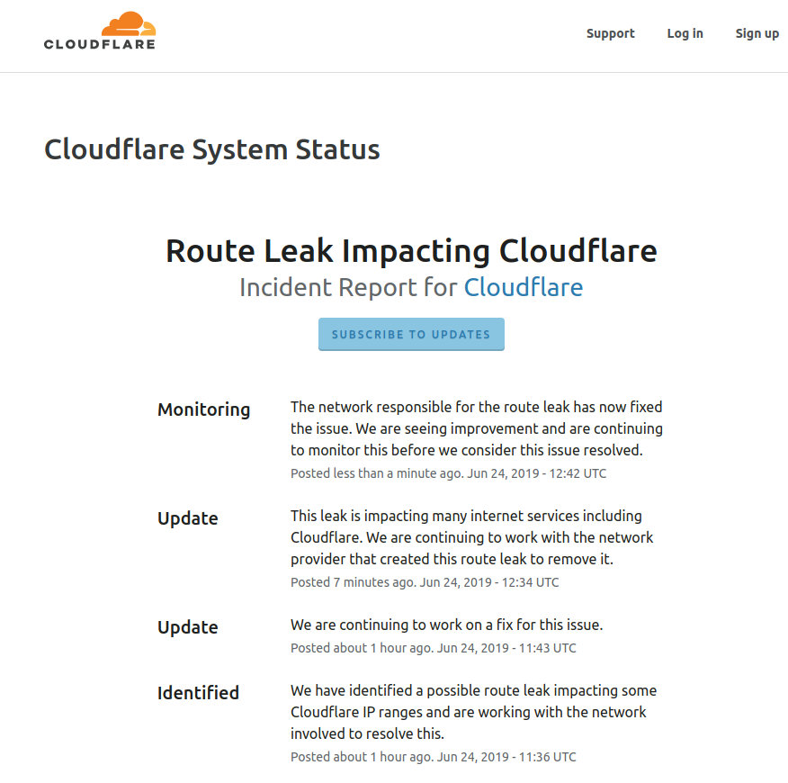 Cloud Flare Report