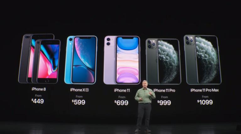 Precios de los nuevos iPhones 2019